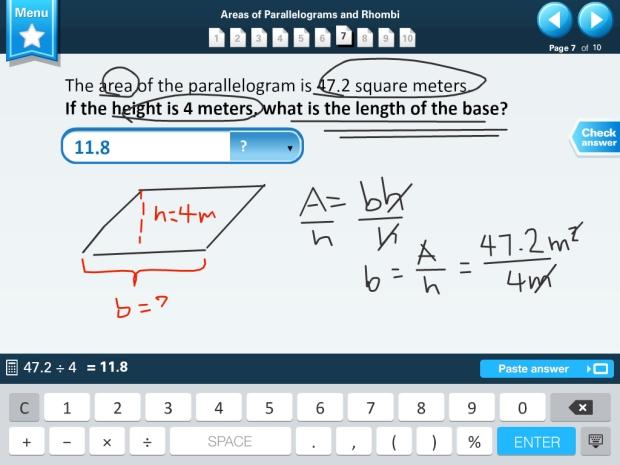 Buzzmath iPad Screenshot